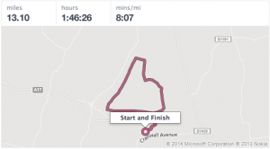 Sleaford Half Map My Run S:shot