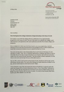 Reece HoL Letter